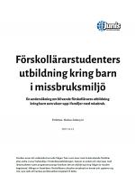Rapport Förskollärarstudenters utbildning